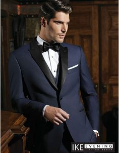 Ike Behar Midnight Blue Slim Fit Tuxedo