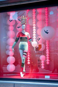 """ISETAN, Shinjuku, Tokyo, Japan, """"Legendary Japanese fashion designer Kansai Yamamoto is having an exihibition at Tokyo's Isetan Shinjuku department store"""", pinned by Ton van der Veer"""