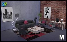 Paula living set at Mango Sims via Sims 4 Updates Sims 4 Update, Outdoor Furniture Sets, Outdoor Decor, Living Room Sets, Lounge, Table, Mango, Home Decor, Furniture