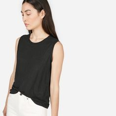 The Linen Muscle Tank - Everlane