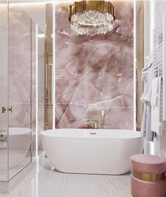 Decor Decor apartment Decor diy Decor elegant Decor ideas Decor ideas colors Decor ideas small Decor master Decor modern Decor pink Bathroom Decor Bathroom Decor Bathroom Decor Glam Home Bad Inspiration, Bathroom Inspiration, Home Decor Inspiration, Bathroom Design Luxury, Pink Marble, Marble Wall, Dream Bathrooms, Pink Bathrooms, Modern Bathrooms