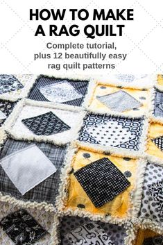 A Beginner's Guide to Rag Quilting book New book has everything you need to know to make your first rag quilts. Quilting For Beginners, Quilting Tips, Quilting Tutorials, Quilting Designs, Cute Quilts, Easy Quilts, Rag Quilt Patterns, Pillow Patterns, Rag Quilt Instructions