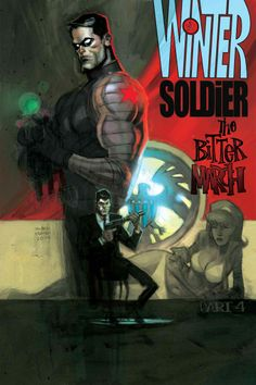 WINTER SOLDIER: THE BITTER MARCH #4 (of 5) RICK REMENDER (W) • ROLAND BOSCHI (A)  Cover by ANDREW ROBINSON • Can the Red Room keep the Winter Soldier under control after Bucky's consciousness begins to surface? • S.H.I.E.L.D. agent Ran Shen continues his desperate battle to save a woman who holds the key to the Cold War. • HYDRA, S.H.I.E.L.D. and the Winter Soldier all play a role in creating the monster that will one day break Captain America!  32 PGS./Rated T+ …$3.99