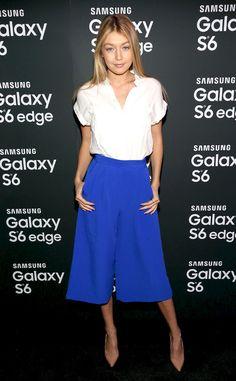 Gigi Hadid at a Samsung Galaxy Party.
