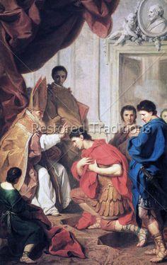 Saint Ambrose converting emperor