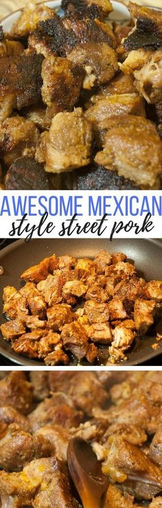 This is an awesome recipe for making homemade Mexican street pork. This is an awesome recipe for making homemade Mexican street pork. Mexican Dishes, Mexican Food Recipes, Mexican Drinks, Dinner Recipes, Vegetarian Mexican, Vegetarian Recipes, Mexican Cooking, Shrimp Recipes, Dinner Ideas