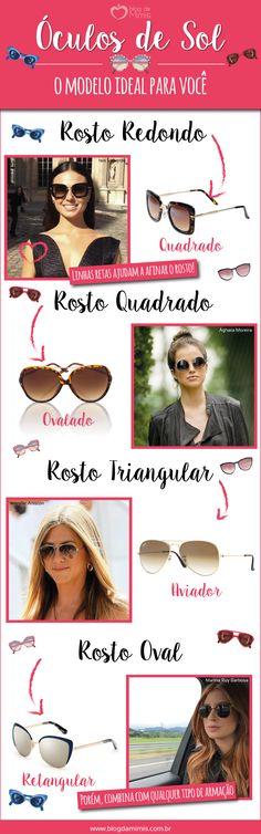 53 melhores imagens de Oculos   Tipos de rosto, Óculos e Dicas de moda 6b31b3e1b2