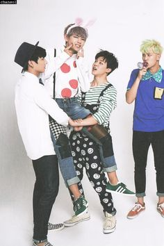 Jungkook, V, Jimin, & RapMon