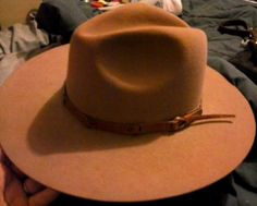 Rodeo King Beaver Quality 6 7/8 XXXXX Tan Cowboy Hat with Leather Sweat Band