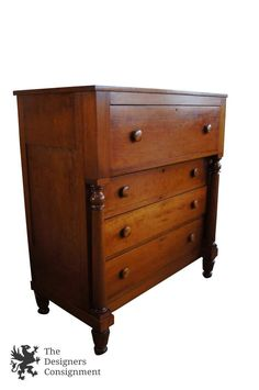 Sumter cabinet co 1970s distressed oak bedroom nightstand for American empire bedroom furniture