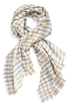 Can't wait to wear this cozy, textured ivory wrap once the weather cools down.
