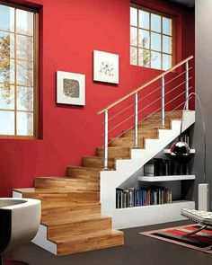 We want to use space under stairs to the maximum, it is useful for storage ideas such as cabinets, shelves under stairs, or even another room that can be utilized Living Room Under Stairs, Space Under Stairs, Stairs In Kitchen, Basement Stairs, Staircase Storage, Interior Staircase, Stair Storage, Staircase Design, Stair Design