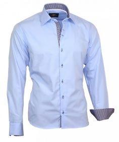 Binder de Luxe Herrenhemd Kontrast Shirt Oberhemd Herren Hemd Kentkragen 807 13-17 | BINDER de LUXE fashion