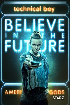 American Gods (TV Series) Photo: American Gods - Season 2 Poster - Believe in the Future Comic Movies, Hd Movies, Movie Tv, Films, Movie Characters, Neil Gaiman, Mad Sweeney, Der Computer, Future Photos