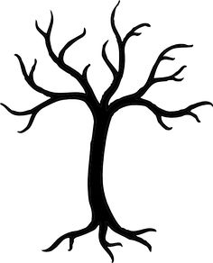 Free Tree Stencils | Black Tree clip art - vector clip art online, royalty free & public ...