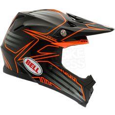 Bell Moto 9 Helmet - Carbon Pinned Orange