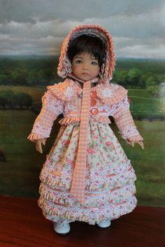 Regency Era 4-Piece Ensemble For Your Dianna Effner Little Darling Doll