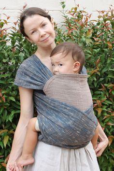 BaBy SaBye Wrap Mei Tai sling hand-woven two-side model14 Indigomix DarkChestnut. $42.00, via Etsy.