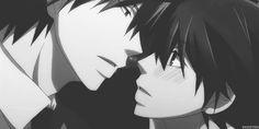 [gif] Misaki x Usagi-san (Akihiko Usami & Misaki Takahashi ~ Junjo Romantica) ||  http://yayoi-senpai.tumblr.com/tagged/junjou romantica/page/3
