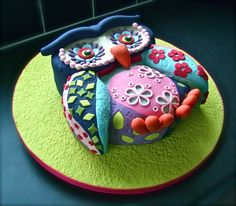 Owl Cake Inspired From Lindy Smith