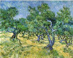 Olive Grove ~ artist Vincent van Gogh, c.1889, Saint-rémy-de-provence, France. Oil on canvas, 72 x 92 cm.