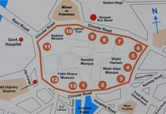 The route map to see old gates of Lahore