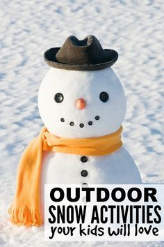 If you're looking for boredom busters for snow days (or any other day of winter, for that matter!), these outdoor snow activities for kids are for you!