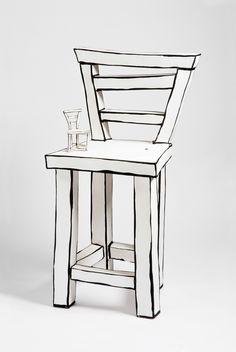 Mind Blowing Porcelain Art by Katharine Morling - Design Milk Art Furniture, Cardboard Furniture, Funky Furniture, Unique Furniture, Painted Furniture, Furniture Design, Cafe Design, Interior Design, Shoe Store Design