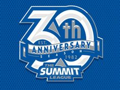 Dribbble - Summit League 30th Anniversary Logo by Kristopher Bazen