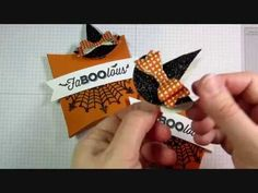 Julie's Stamping Spot -- Stampin' Up! Project Ideas by Julie Davison: VIDEO: Halloween Pillow Box Treat + Witch's Hat Clip Tutorial