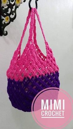 8 Bolsos de Crochet que querrás tener | Otakulandia.es C2c Crochet, Love Crochet, Crochet Handbags, Crochet Bags, Knitted Bags, Crochet Necklace, Crafts For Kids, Purses, Handle