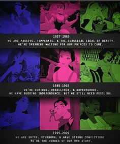 disney princess evolution and people wonder why girls now a days are the way they are