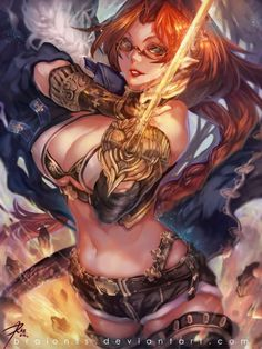 Golden Blade is a supper hot action character pose by Taiwan based concept artist and illustrator Braionss RAIon.