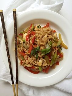 Easy Healthy Chicken Lo Mein