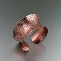 Texturized #Copper #Cuff Bracelet. Too bold not to be beautiful!   http://www.johnsbrana.com/texturized-copper-cuff-bracelet.html  $135.00