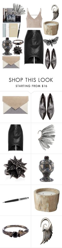 """""""New Year"""" by alessugar ❤ liked on Polyvore featuring Yves Saint Laurent, Givenchy, River Island, Eddie Borgo, Swarovski, Lazy Susan and Disce Mori"""