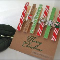 clothespin gift tags {from Diane W designs on artfire.com}