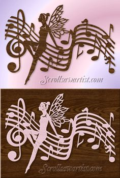 Scroll Saw Patterns :: Miscellaneous :: Music :: Music fairy -