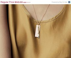 Formica Long Rectangle Necklace. $40.00, via Etsy.
