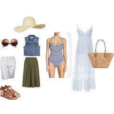 Holiday by nadia-skibina on Polyvore featuring мода, MANGO, Tart, JM Collection, Valentino, Straw Studios and Topshop