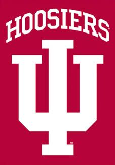 Indiana Hoosiers IU Logo Poster Banner - Indiana University Premium NCAA 2-Sided Fabric Banner -Available at www.sportsposterwarehouse.com