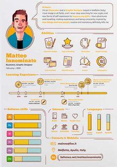 50 Simple & Creative Resume (CV) Design Ideas / Examples For 2017 & Beyond Graphic Design Resume, Resume Design Template, Creative Resume Templates, Cv Template, Creative Resume Design, Design Templates, Resume Layout, Resume Cv, Design Portfolio Layout