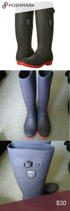 Kamik Jennifer Rain Boot These are in perfect condition. I wore them outside one time. My feet are just too fat for them. They are grey and coral. Smoke free home. Bundle and save. Make me an offer. Kamik Shoes Winter & Rain Boots
