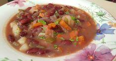 Fabulosa receta para Guiso de alubias rojas y verduras.