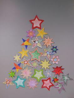 Kerstboom van sterren