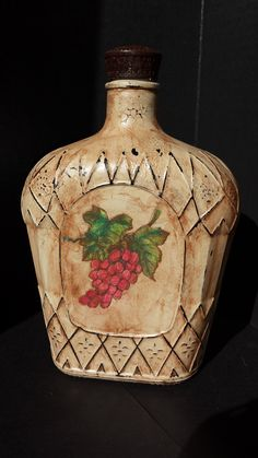 1000 Images About Painted Crown Royal Bottles On