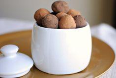 Chocolate cinnamon and cayenne pepper truffles