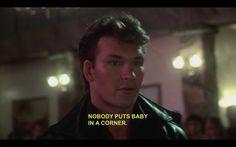 Johnny Castle (Patrick Swayze) in Dirty Dancing