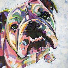 English Bulldog Print Art Print by Adrienne Lewis Paintings English Bulldog Print Art Print by. The post English Bulldog Print Art Print by adriennelewispaintings appeared first on Travers Rottweilers. Tattoo Bulldog, Cãezinhos Bulldog, Bulldog Puppies, Bulldog Quotes, Bulldog Drawing, Chihuahua Dogs, Pugs, Pet Dogs, Bulldogge Tattoo