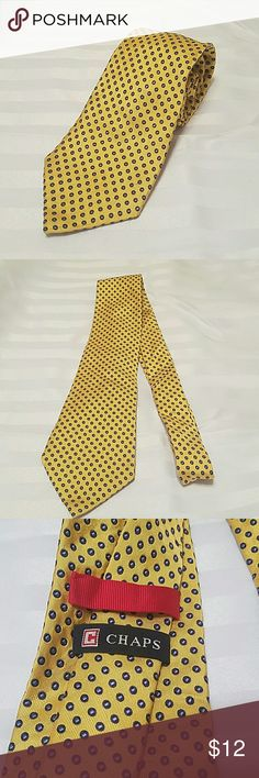 NEW!! CHAPS NECKTIE. NWOT. 3.5IN X 58IN. SILK Men's CHAPS Necktie Brand New Without TAGS 3.5 inches x 58 inches  Made in CHINA Made of Silk  ** Tie will be shipped in protective sleeve ** Chaps Accessories Ties